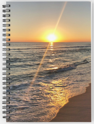 Florida sunset notebook © 2018 ericarobbin.com   All rights reserved.