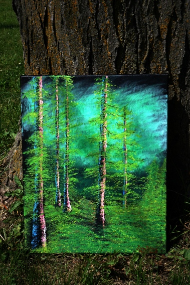 Bob Ross - Silent Forest inspired acrylic painting © 2018 ericarobbin.com | All rights reserved